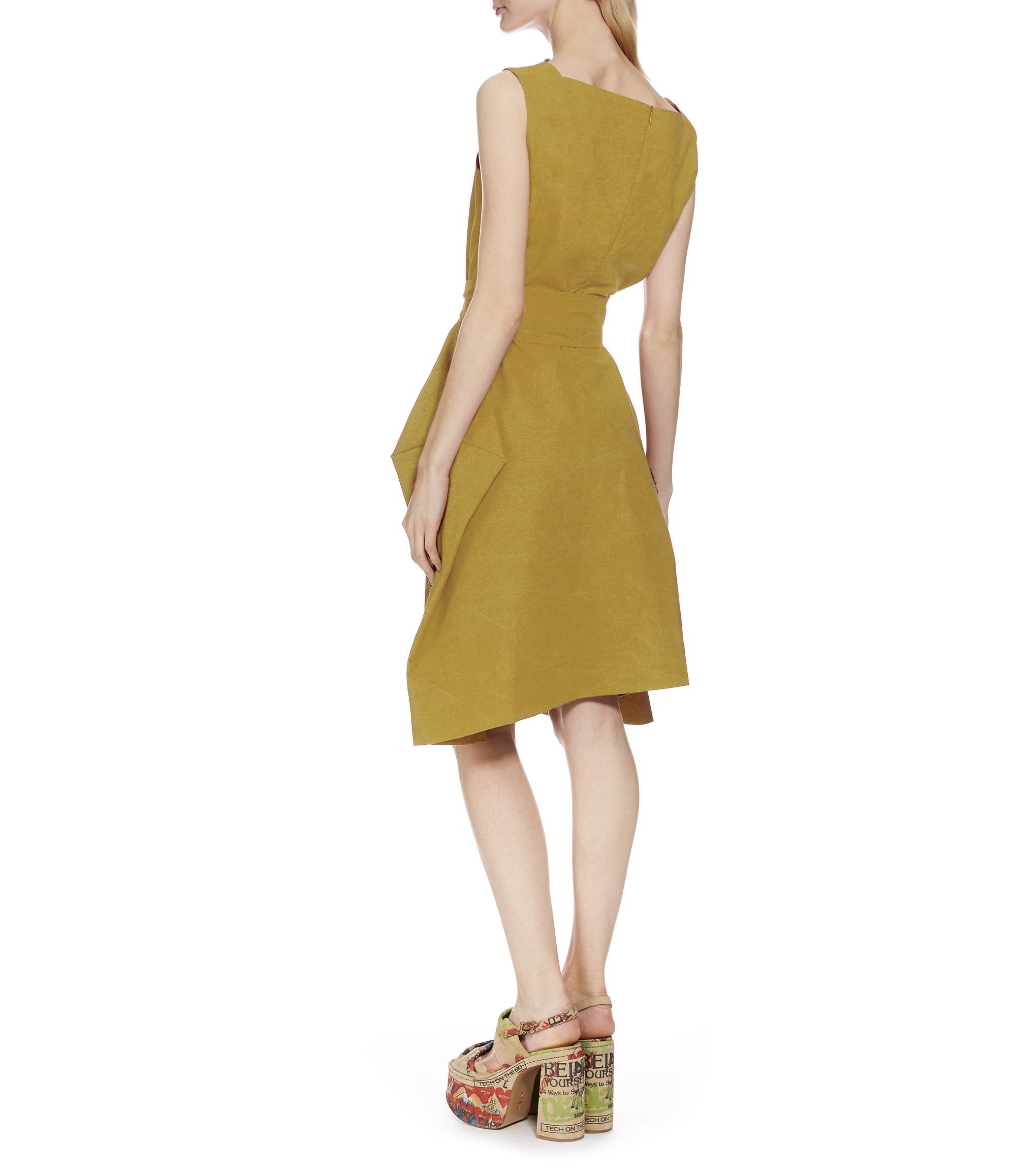 Yellow Lotus dress Vivienne Westwood 100% Guaranteed Sale Online Cheap Sale Popular Outlet Explore MzFA8r68LC