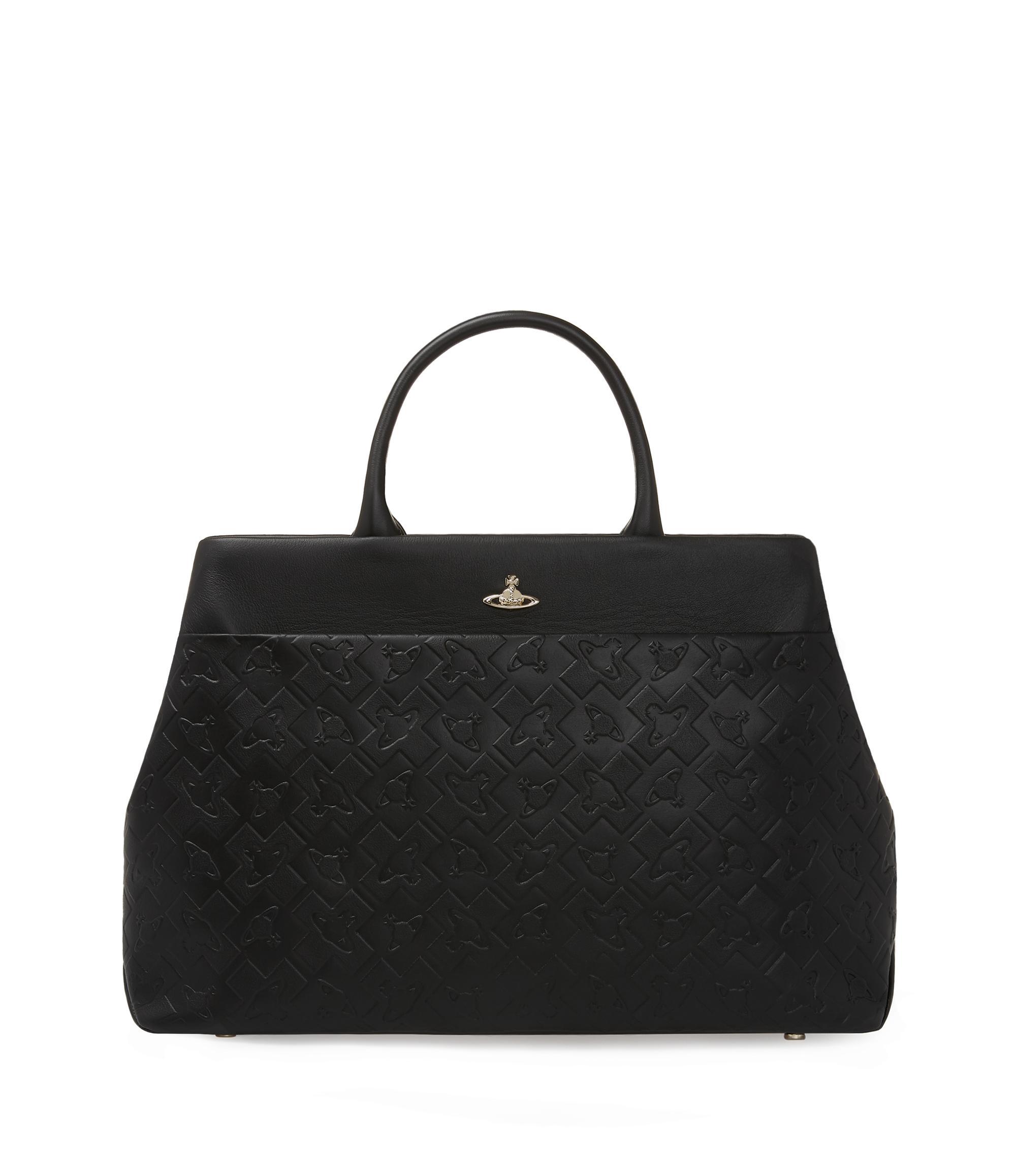 Vivienne Westwood Bags Time Machine Tote Bag Black - Luggage