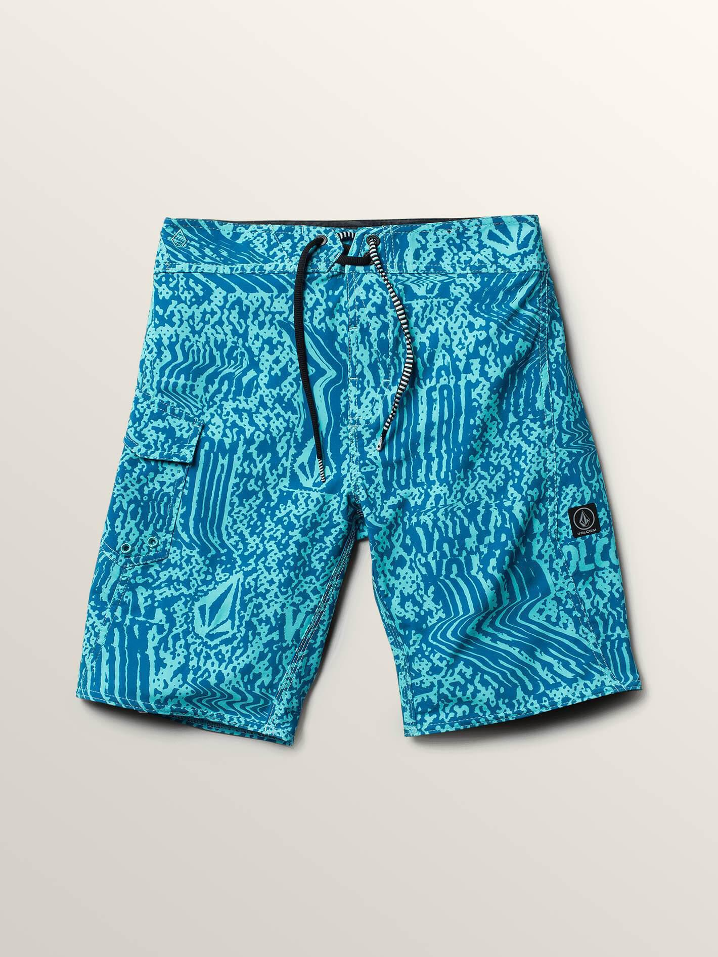 1d934b0512 Lyst - Volcom Big Boys Logo Plasm Mod Boardshorts in Blue for Men