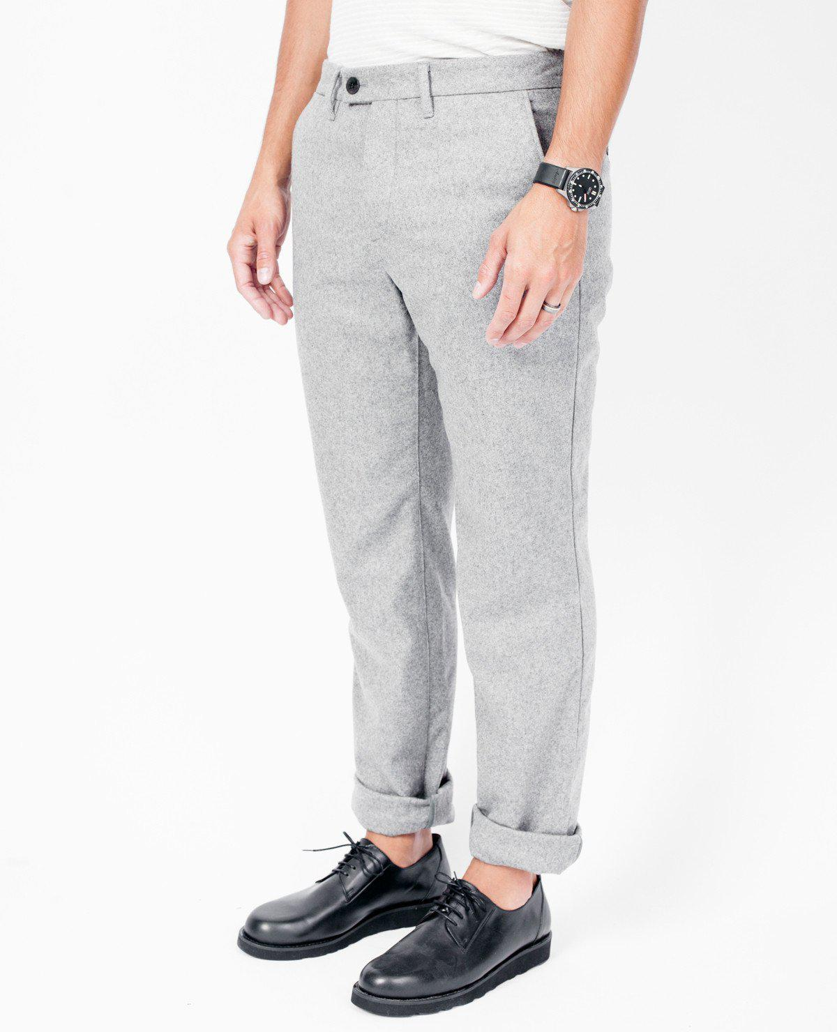 ea52e1dc804 Norse Projects Thomas Wool Pants   Grey Melange in Gray for Men - Lyst