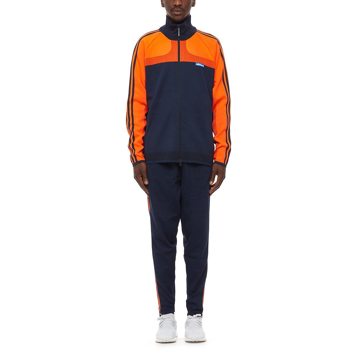 Adidas Originals Knitted Track Suit In Blue For Men Lyst