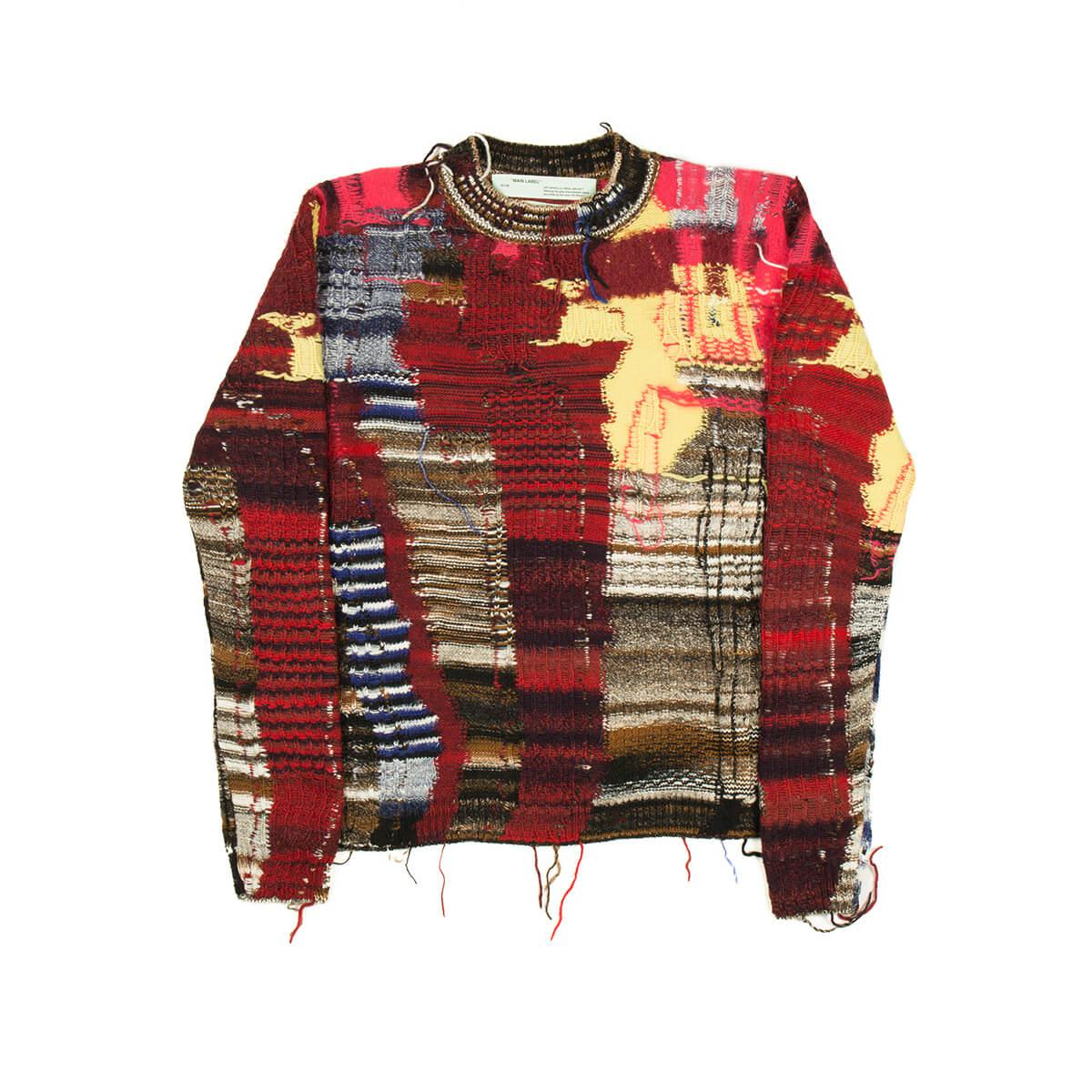 9dd8a3148a Lyst - Off-White C O Virgil Abloh Business Casual Knitwear in Red ...