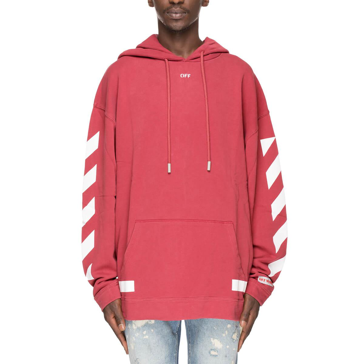 71b7c9c4c3f0 Lyst - Off-White c o Virgil Abloh Diagonal Arrows Hoodie in Red for Men