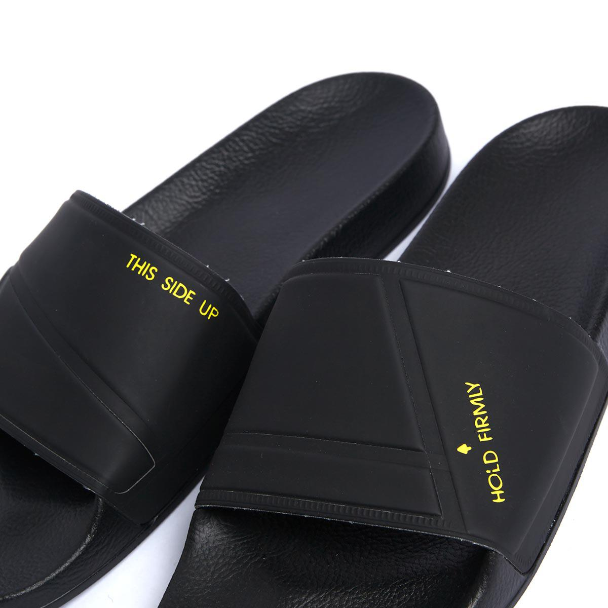 1f1ba22bc3d6 Lyst - adidas By Raf Simons Bunny Adilette Rubber Slides in Black ...