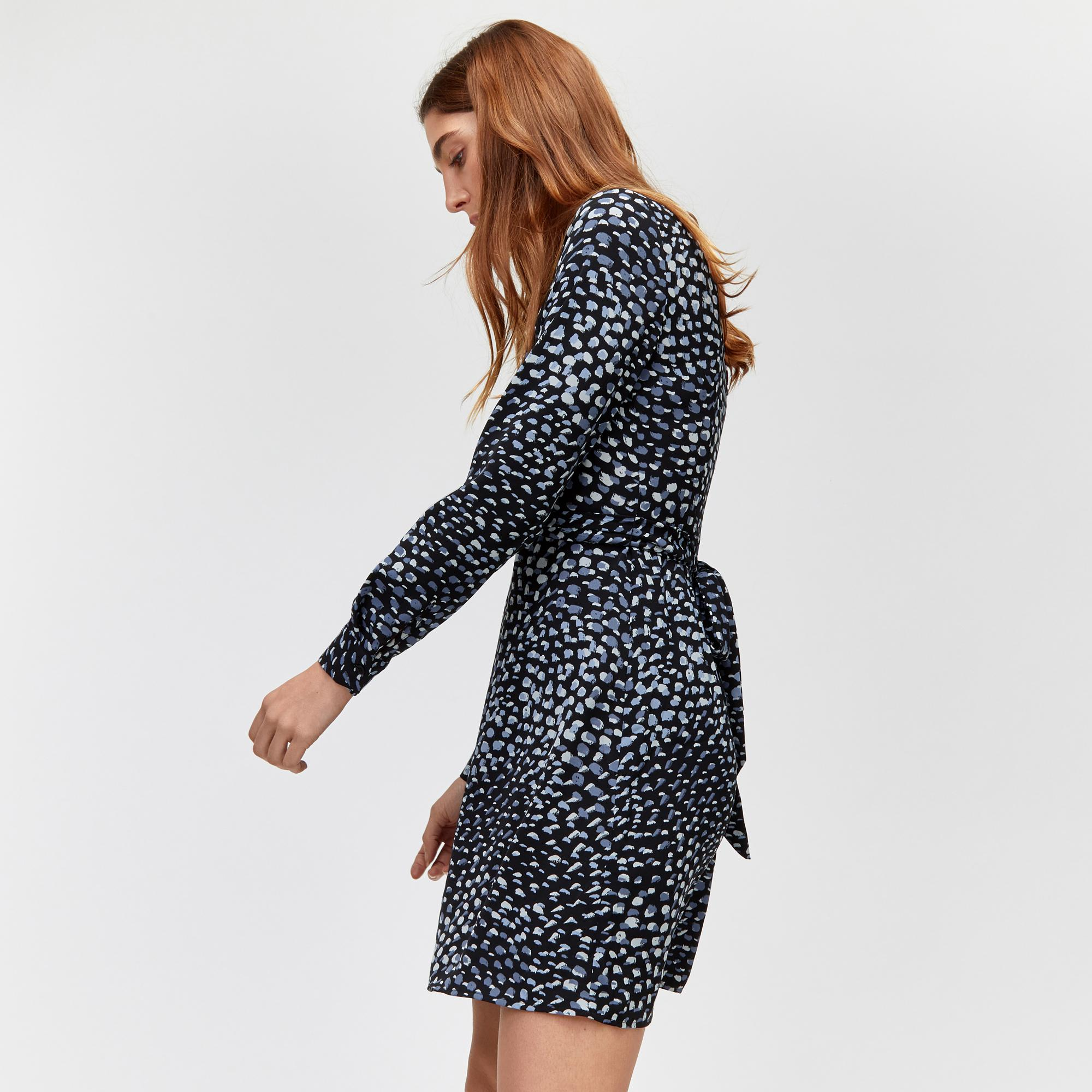 a23d820351 Warehouse Brushed Animal Print Dress in Blue - Save 35% - Lyst