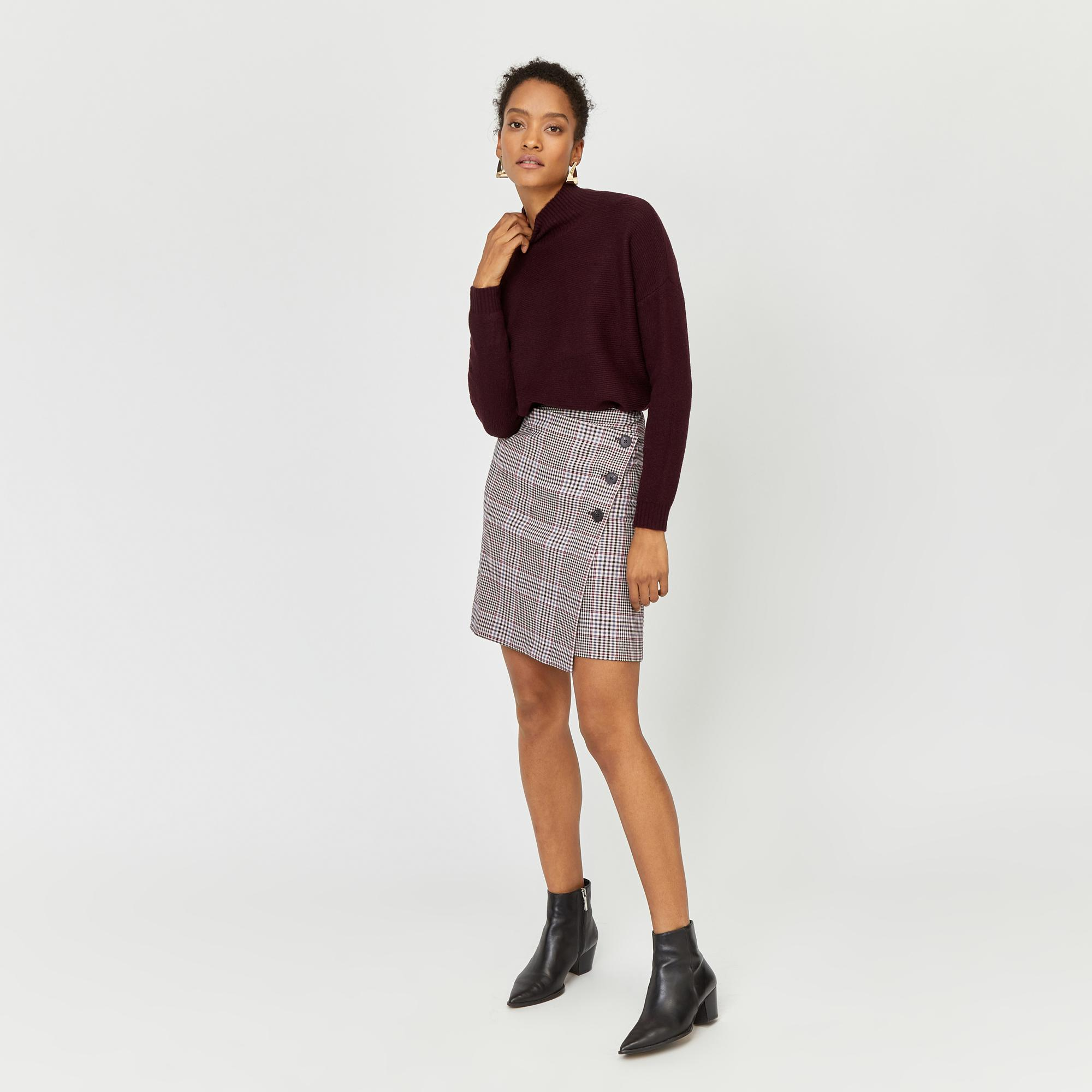 d5f06dd11 Warehouse. Women's Check Pelmet Mini Skirt