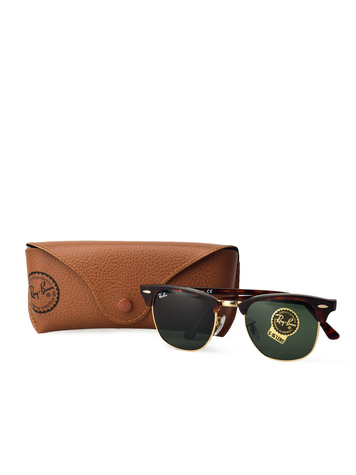 83b77f30cf NEW RAY BAN RB3016 W0366 Tortoise Clubmaster Sunglasses G 15 Green Source ·  Gallery