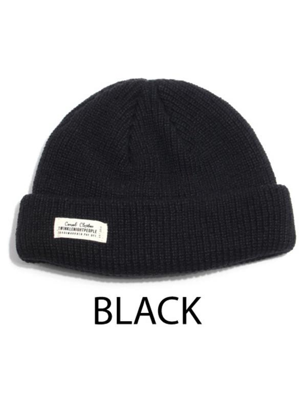 ce254a0d305b8 W Concept Short Beanie Wh Label Watch 5 Color in Black for Men - Lyst