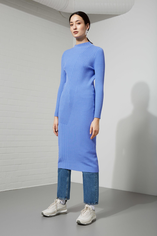 1ee6270810 Weekday Chroma Knit Dress in Purple - Lyst