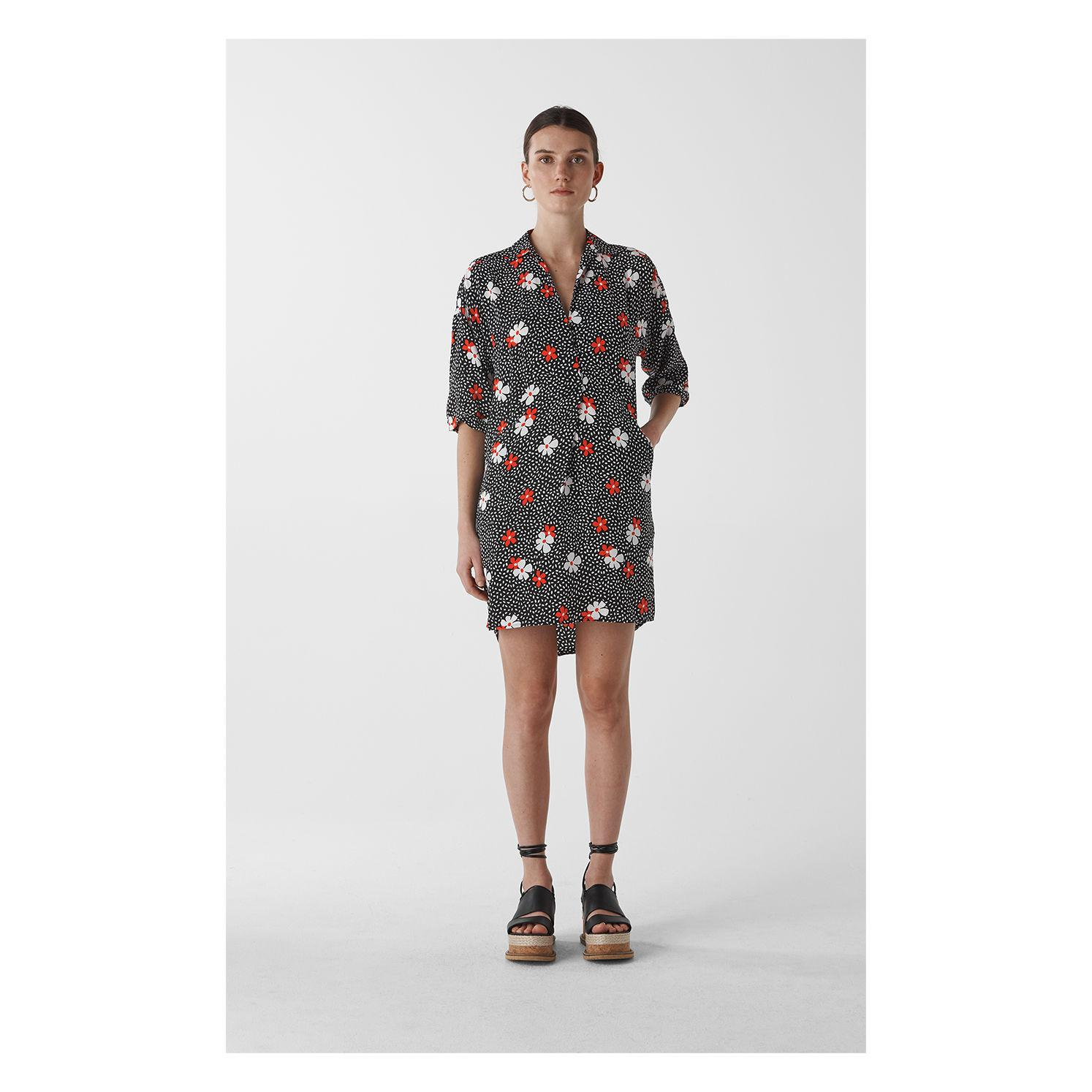 1be356642915 Whistles Confetti Floral Lola Dress in Black - Lyst