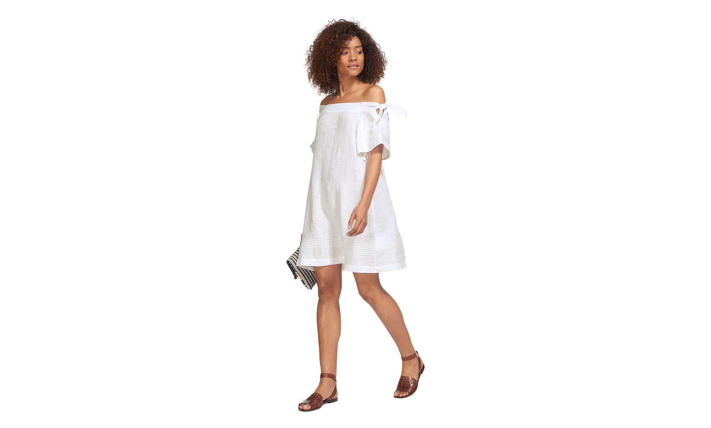 64f42e012f Gallery. Previously sold at  Whistles · Women s White Linen Dresses