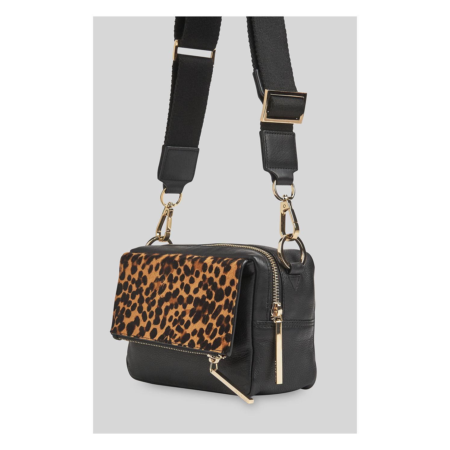 01159924cde1 Whistles Bibi Leopard Crossbody Bag in Black - Save 31% - Lyst