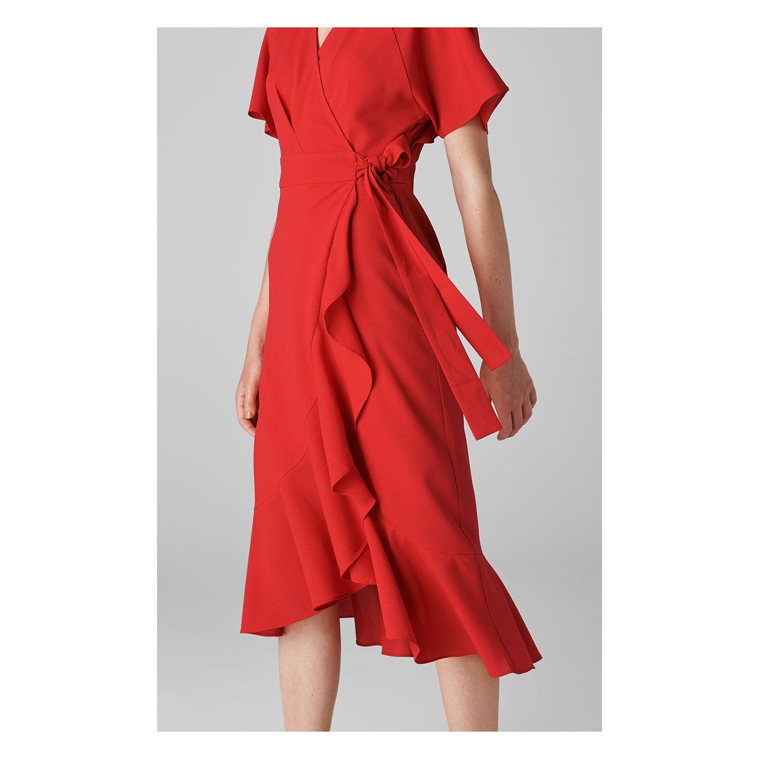 3c67494f64 ... Abigail Frill Wrap Dress - Lyst. View fullscreen