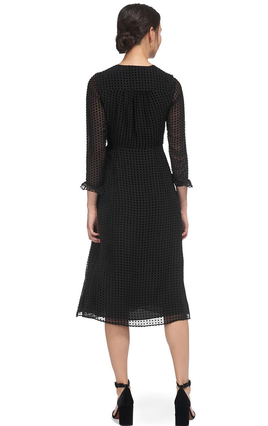 c0367b3dc91 Whistles - Black Venus Velvet Spot Wrap Dress - Lyst. View fullscreen