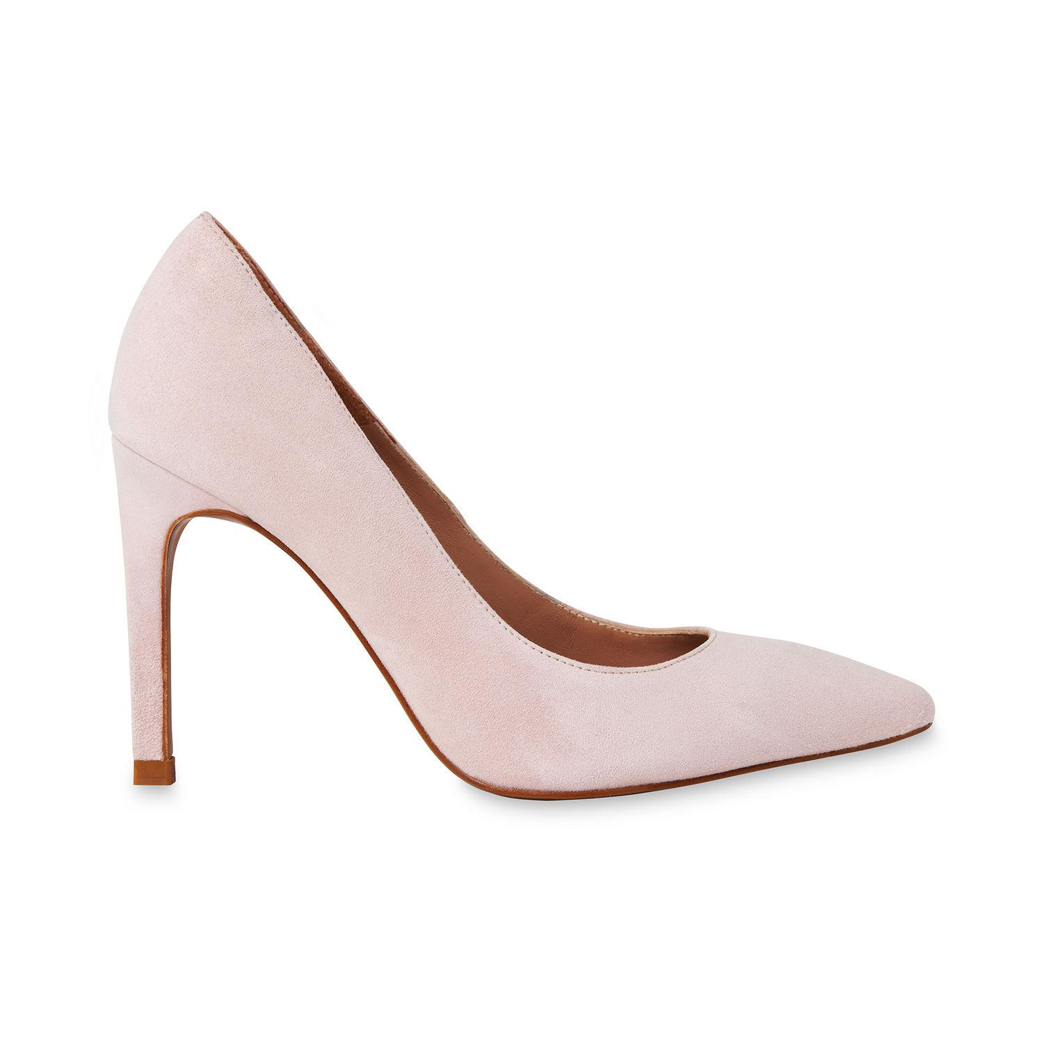 3a922e6464ba1 Lyst - Whistles Cornel Suede Point Pump in Pink