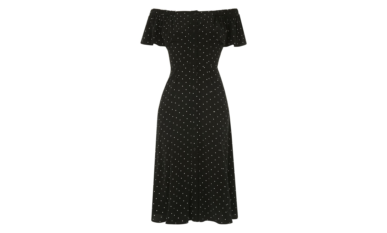 Whistles black dress with white polka dots