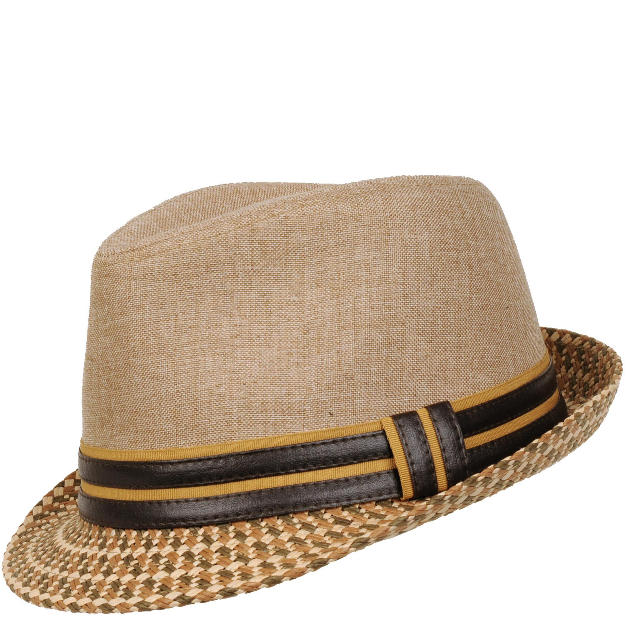 d5999bab2b1 Lyst - Wilsons Leather Mixed Media Faux-leather Band Fedora in Brown ...