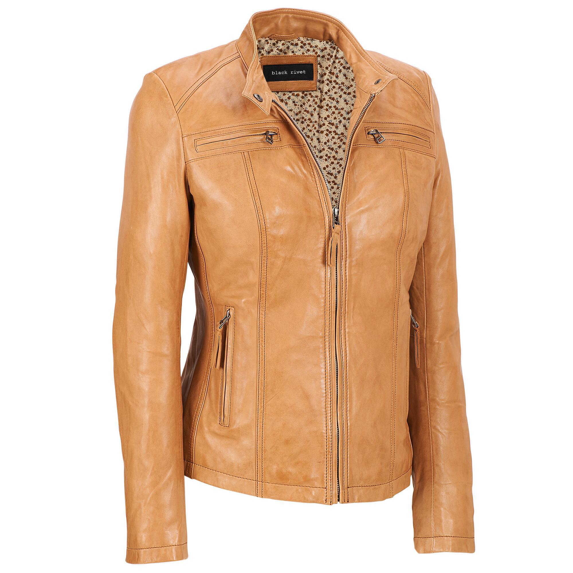 fa0d1adc9afba Lyst - Wilsons Leather Plus Size Black Rivet Center Zip Lamb Scuba ...