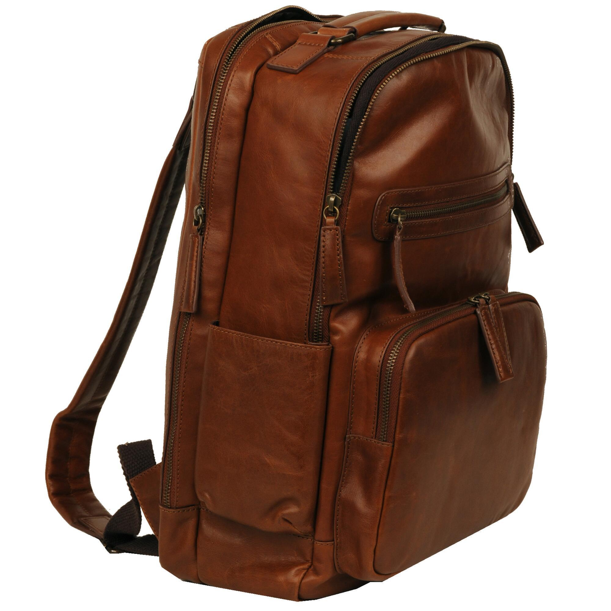 bcc1bcc7c1d7 Wilsons Leather - Brown Vintage Leather Crunch Backpack for Men - Lyst.  View fullscreen