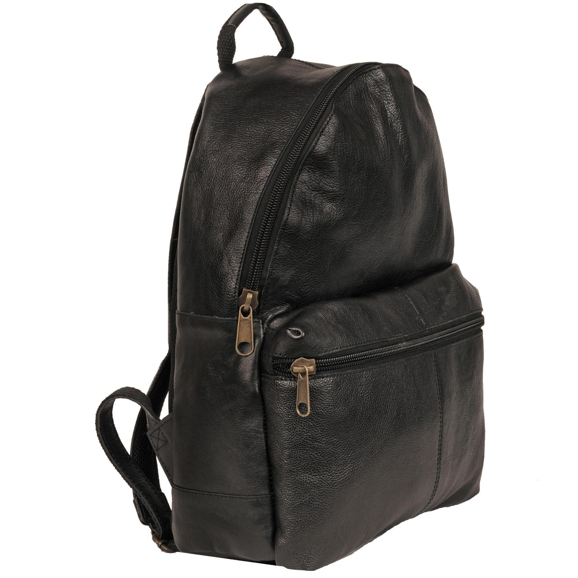 Wilsons leather Laptop Compatible Leather Backpack in Black for ...