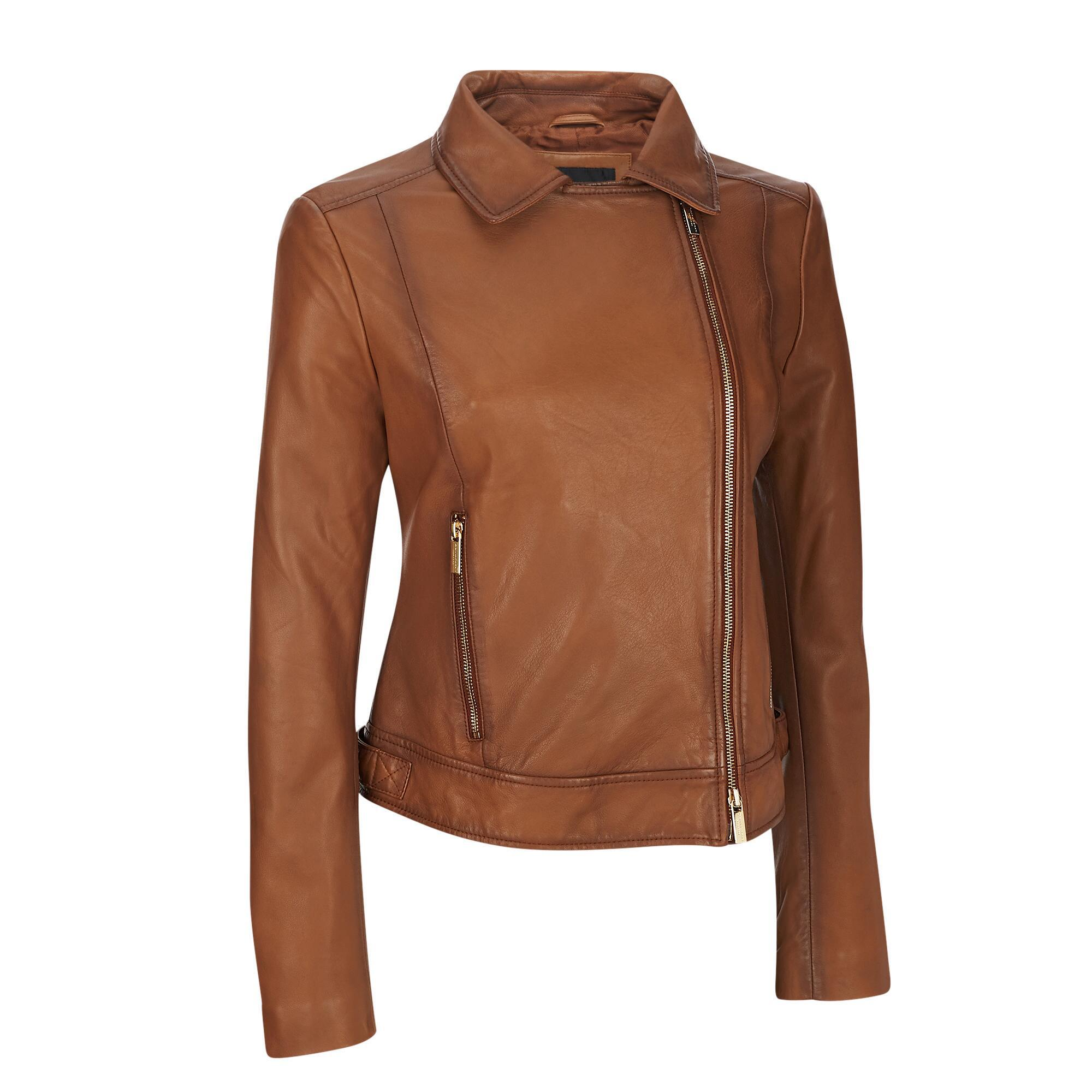 4baf397f8a1 Lyst - Wilsons Leather Designer Brand Asymmetrical Zip Genuine ...