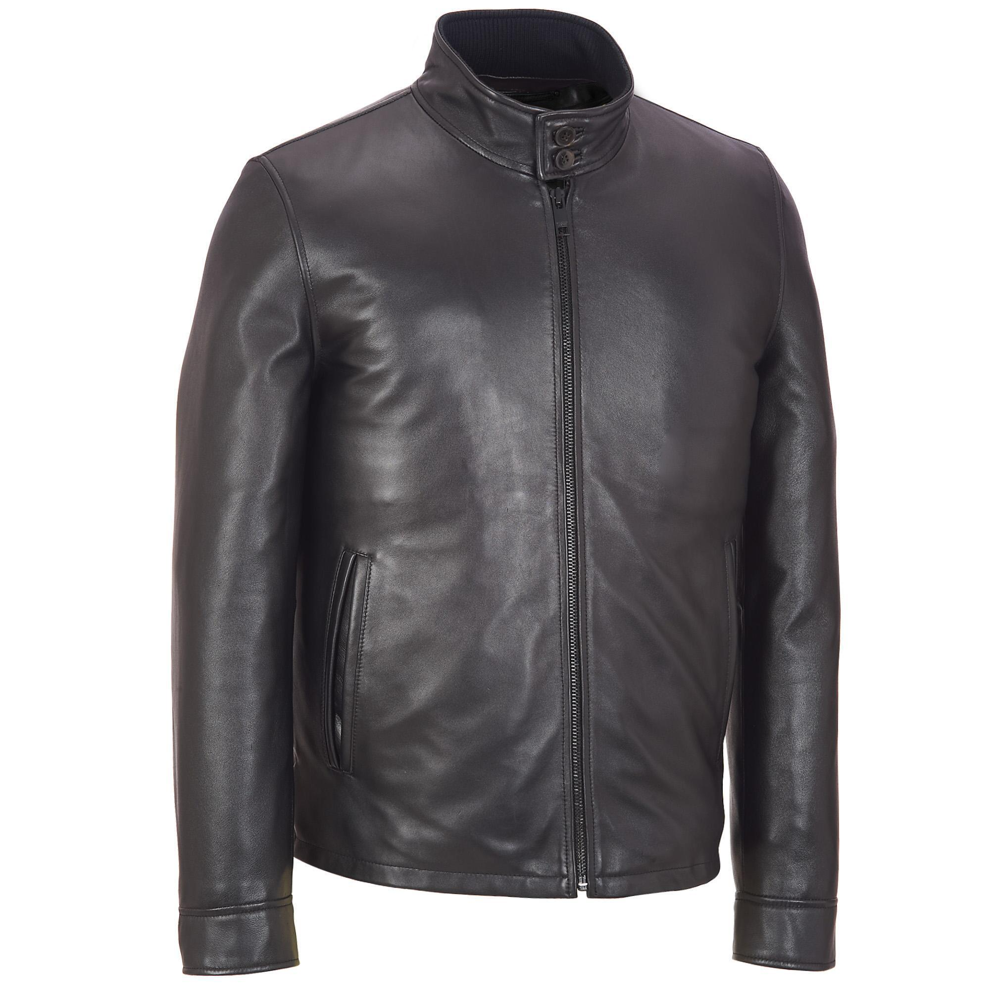 bcb40e7a2c0904 Lyst - Wilsons Leather Big   Tall Contemporary Leather Jacket W  Tab ...