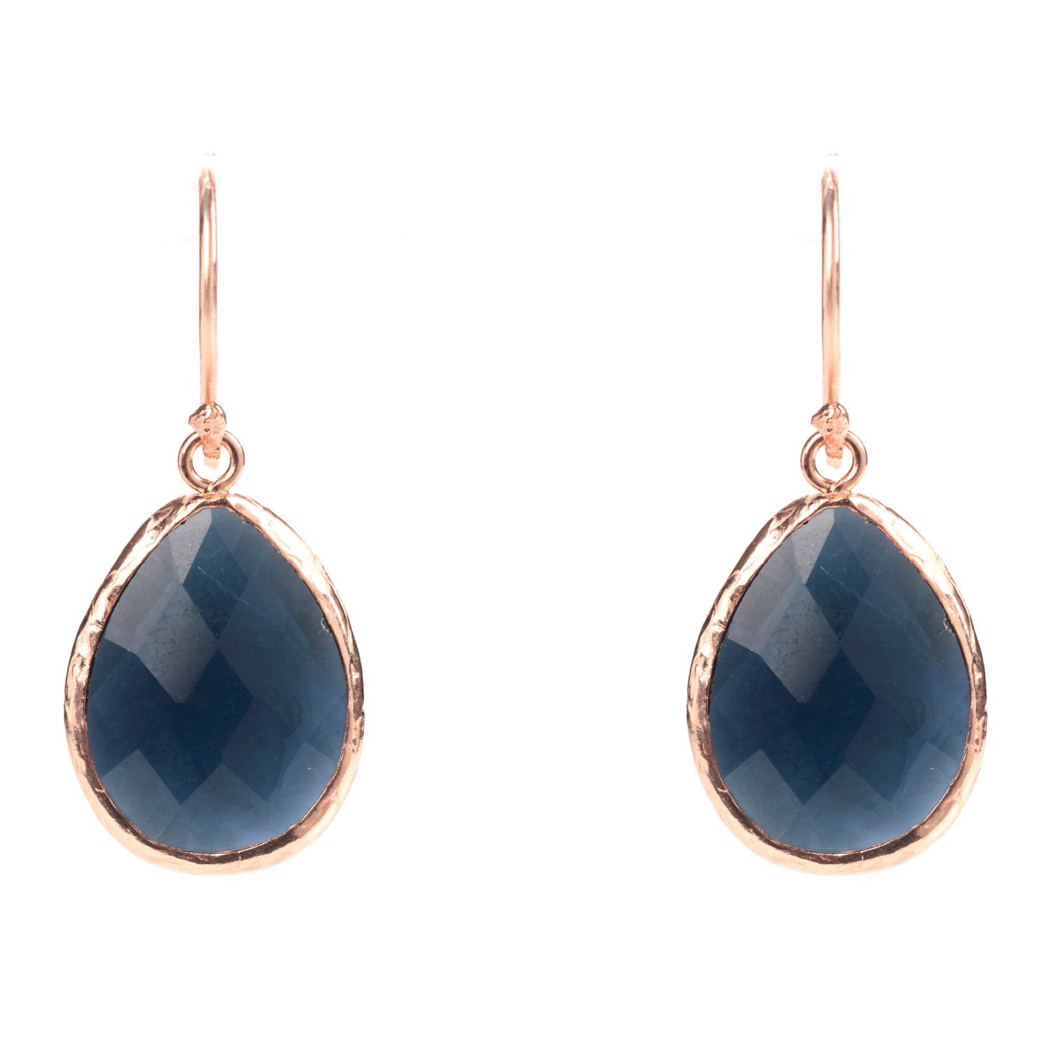 Latelita London Gold Petite Drop Earring Sapphire Hydro LGXnM