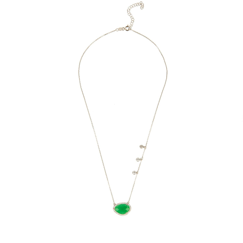 Latelita London Sofia Green Onyx Gemstone Bracelet Silver xr2U8GCGGt