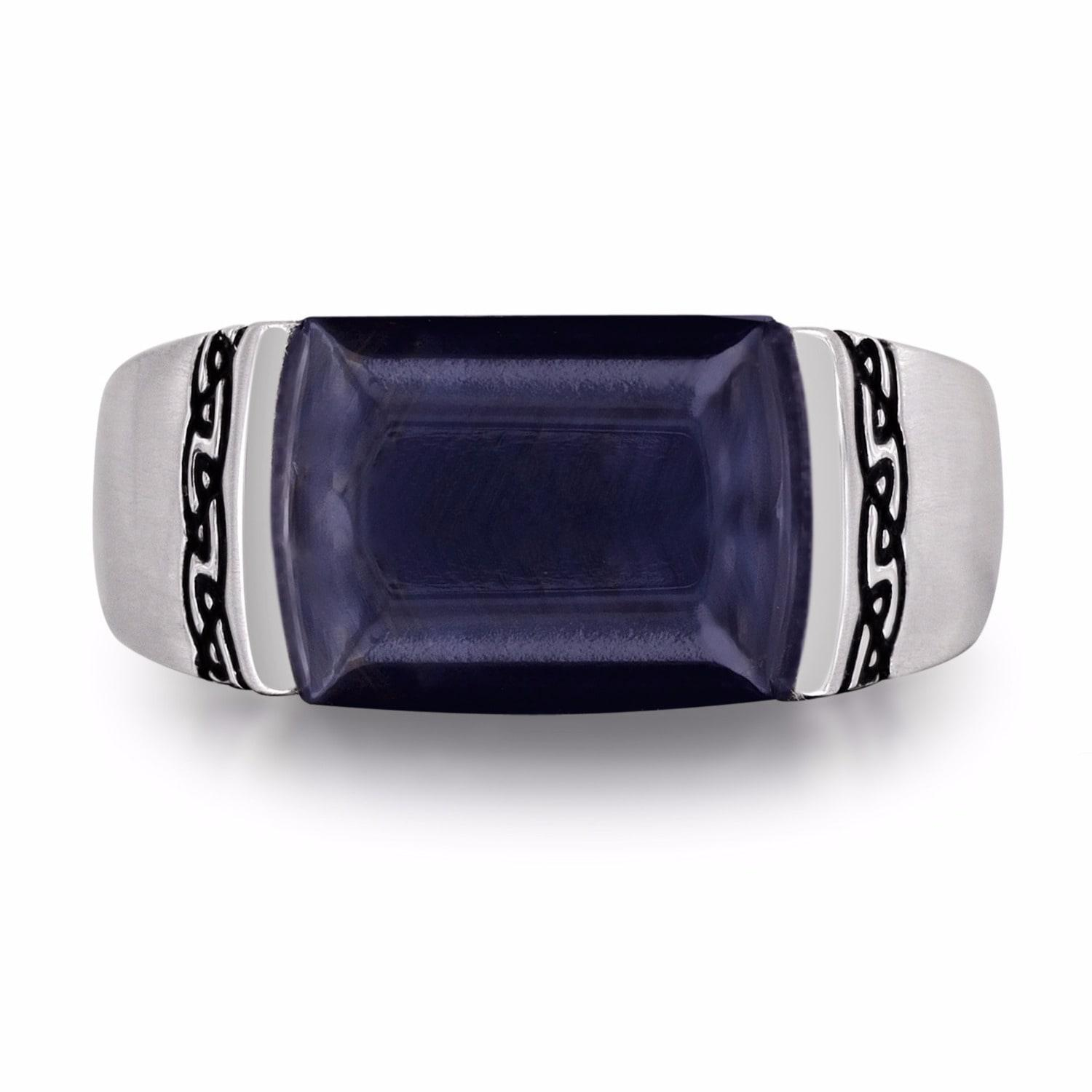 rings david with product gallery in exotic signet lyst ring silverblue normal stone pietersite yurman jewelry blue silver