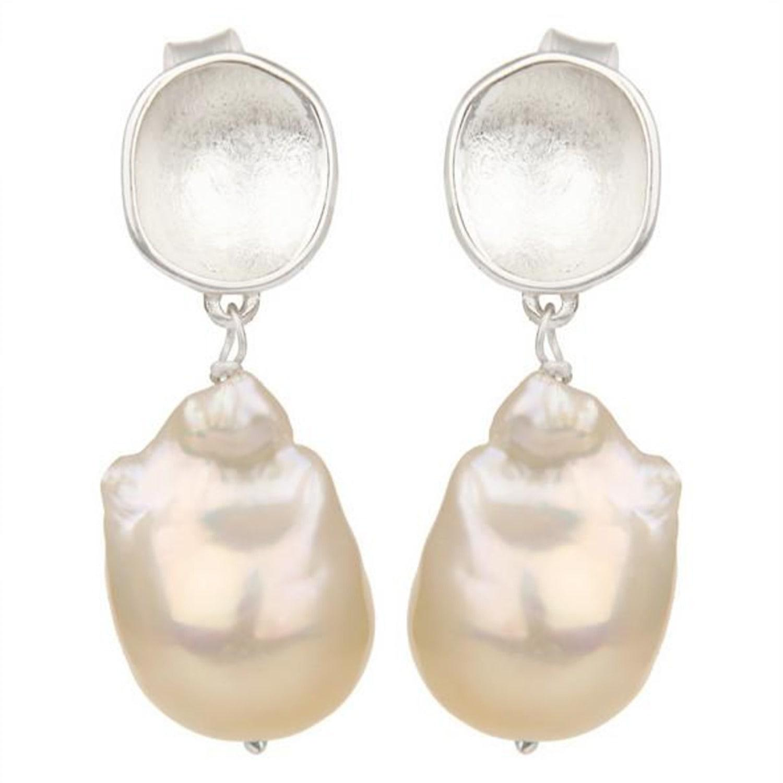 e3bdb3080 Carousel Jewels Silver Nugget & Pearl Earrings in Metallic - Lyst