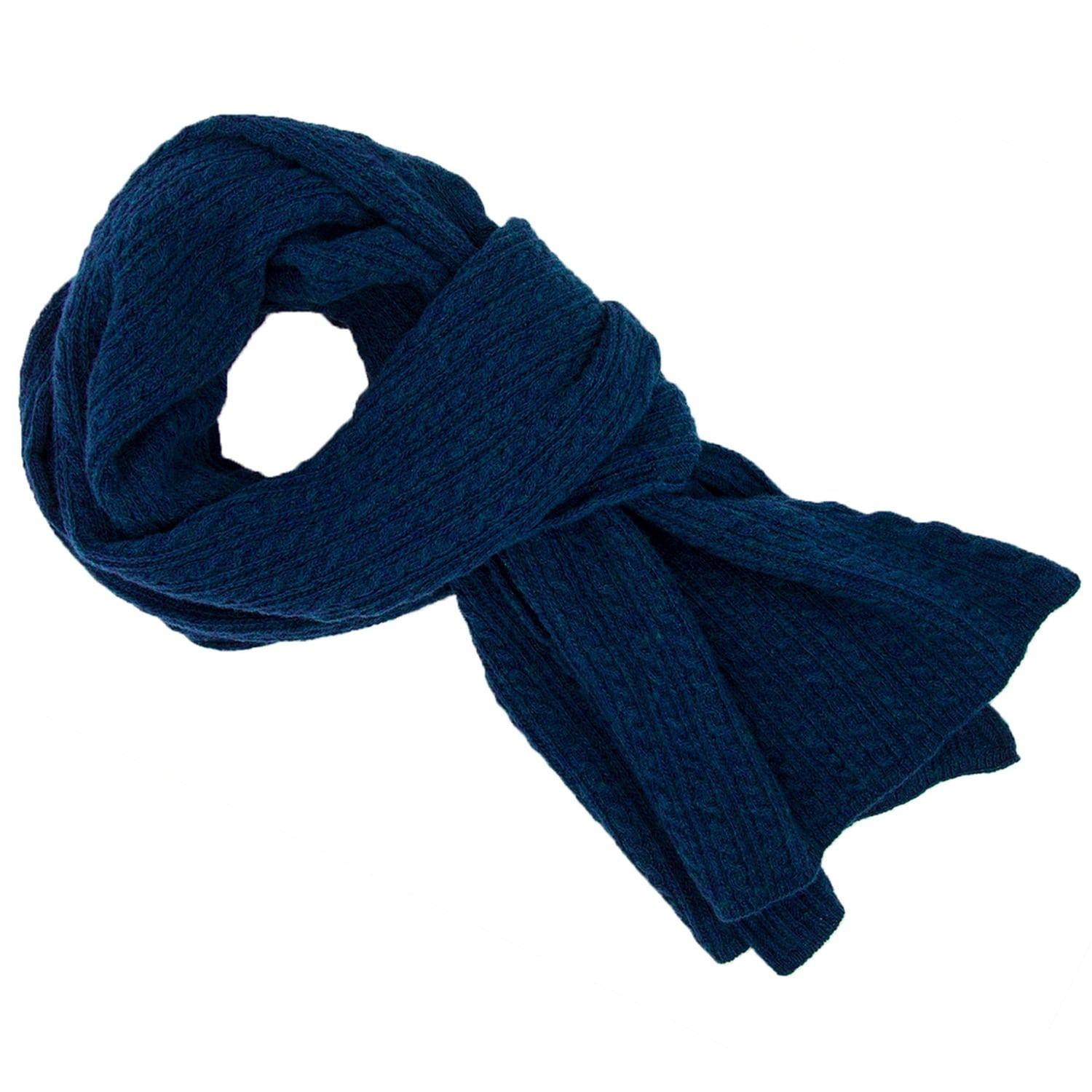 60d2240b6 40 Colori - Blue Petrol Small Braided Wool & Cashmere Scarf for Men - Lyst