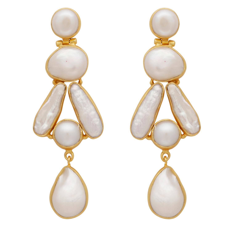 852d12451 Carousel Jewels Mother Of Pearl Statement Earrings in Metallic - Lyst