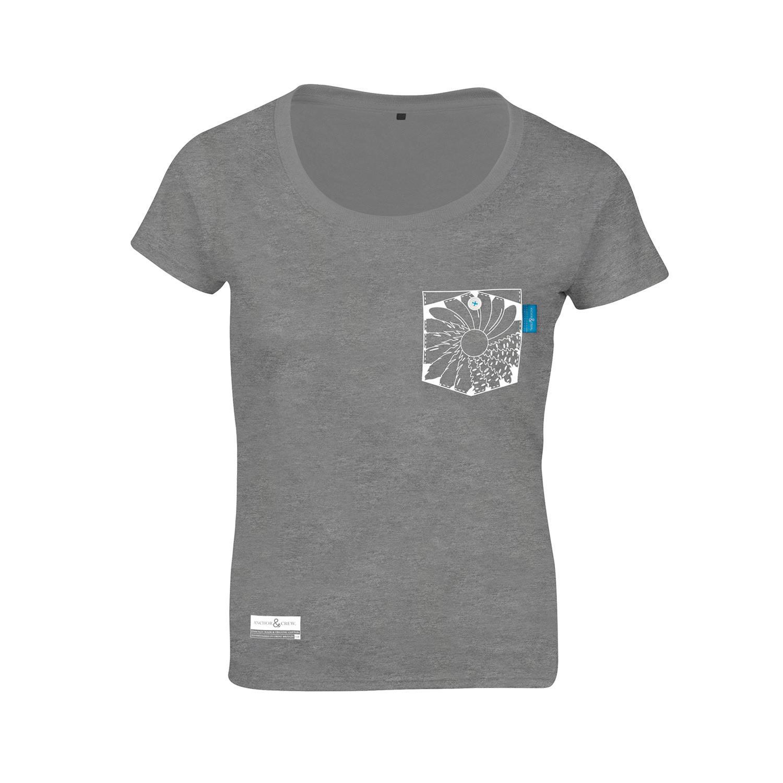Lyst anchor crew athletic grey explorer print organic for Organic cotton t shirt printing