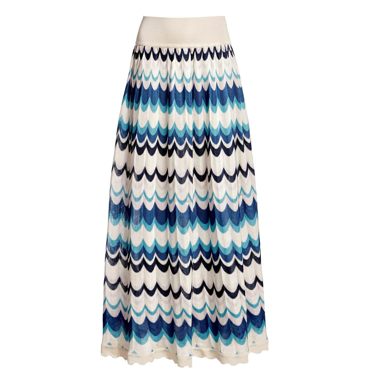 1ba5e46819 Lyst - Rumour London Tahiti Wavy Striped Maxi Skirt in Blue