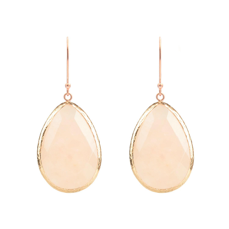 Latelita London Rose Gold Single Drop Earring Rose Quartz 4C5Cfkhv
