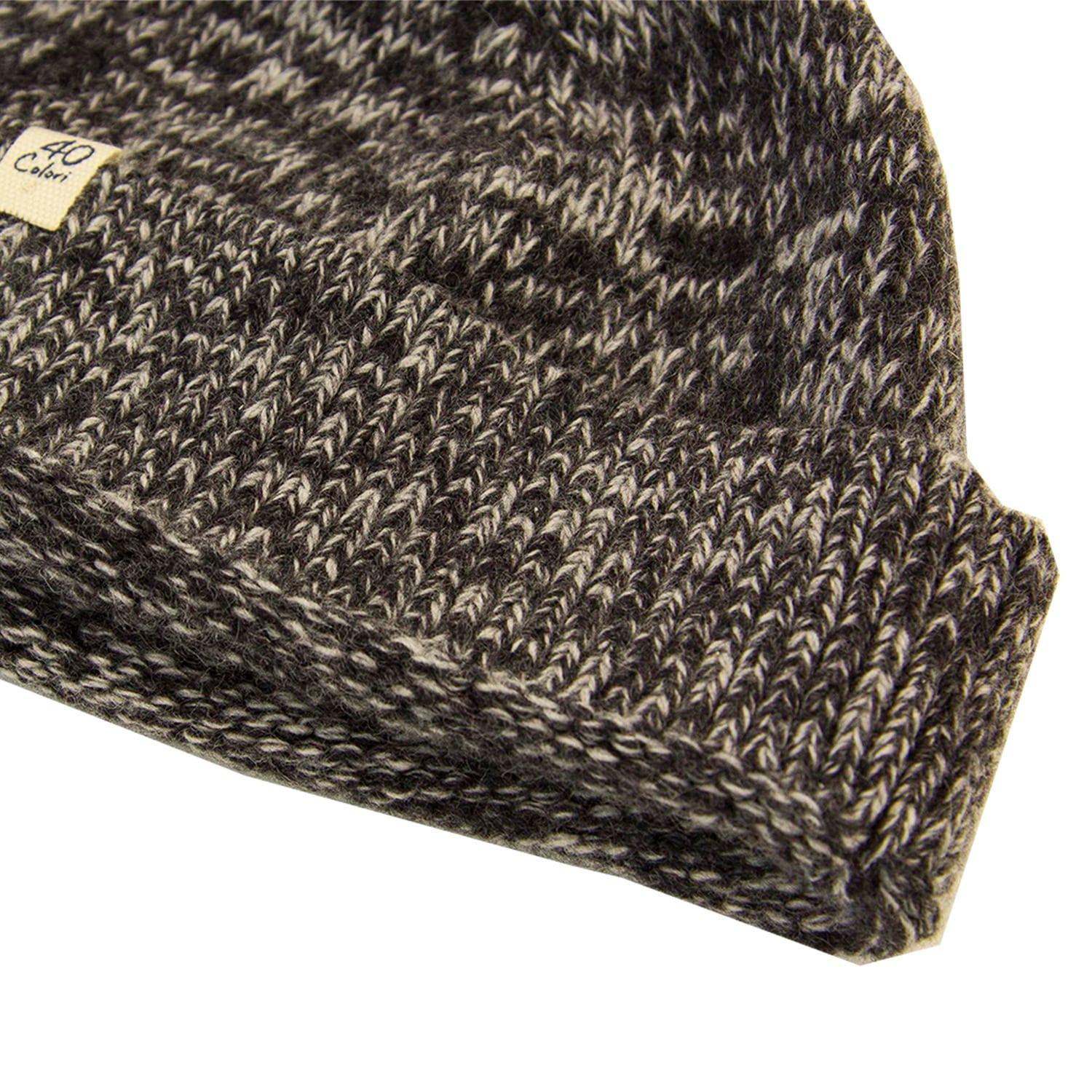 f10e31f29ec 40 Colori - Gray Charcoal Melange Wool   Cashmere Fisherman Beanie for Men  - Lyst. View fullscreen