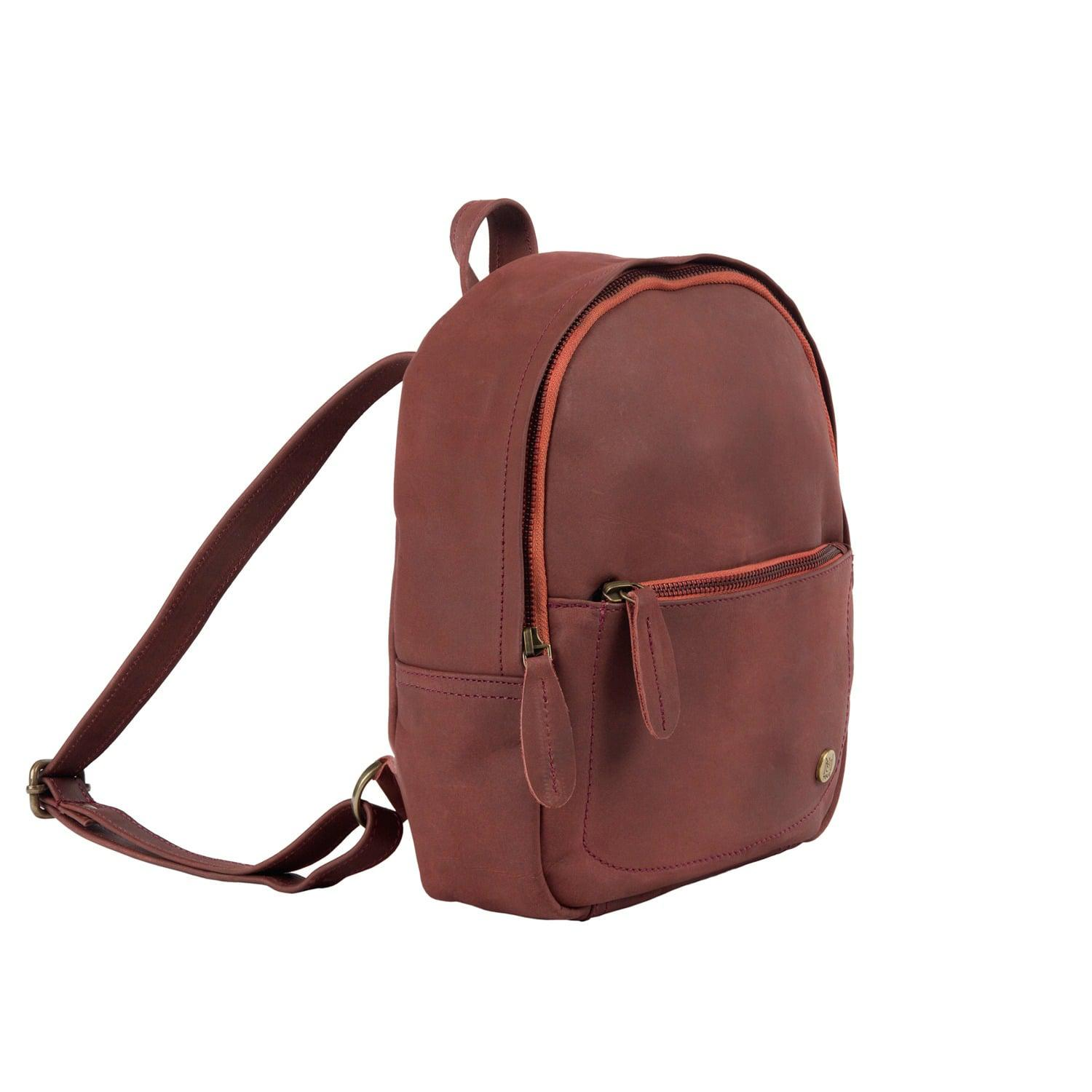 MAHI Leather - Red Mini Backpack In Vintage Maroon Nubuck Suede Leather -  Lyst. View fullscreen 115bfd822dcd6