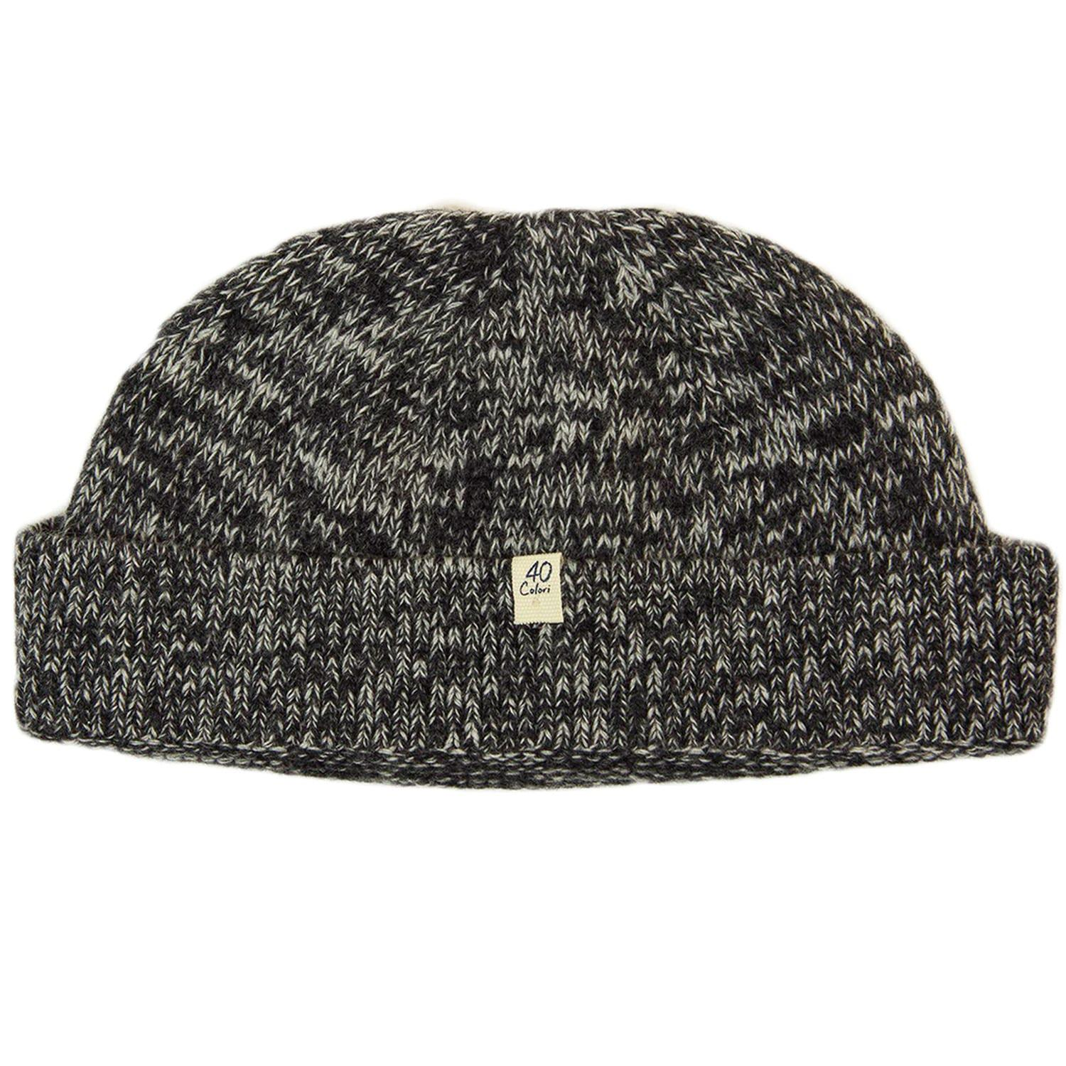 c5121f9011f 40 Colori. Men s Gray Charcoal Melange Wool   Cashmere Fisherman Beanie