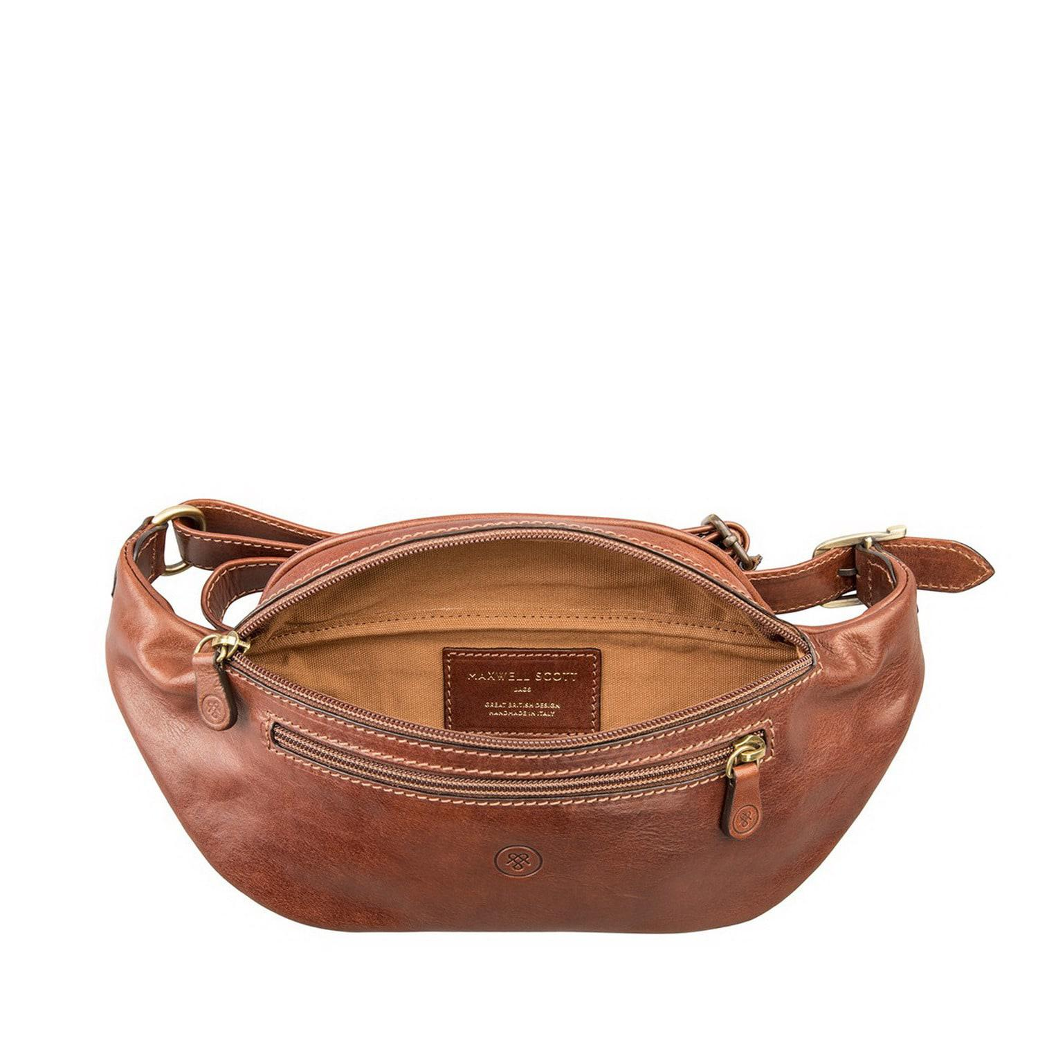Maxwell Scott Bags Luxury Leather Chestnut Tan Bum Bag