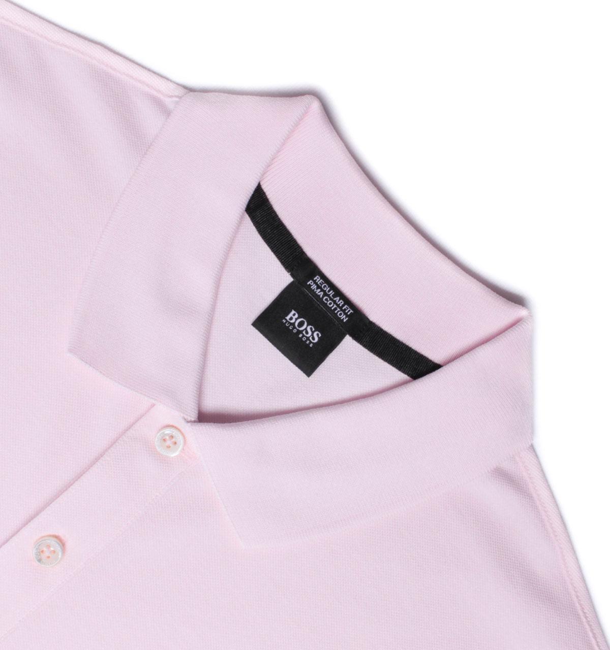ecd2ec45 BOSS Pallas Pale Pink Pima Cotton Pique Polo Shirt in Pink for Men ...