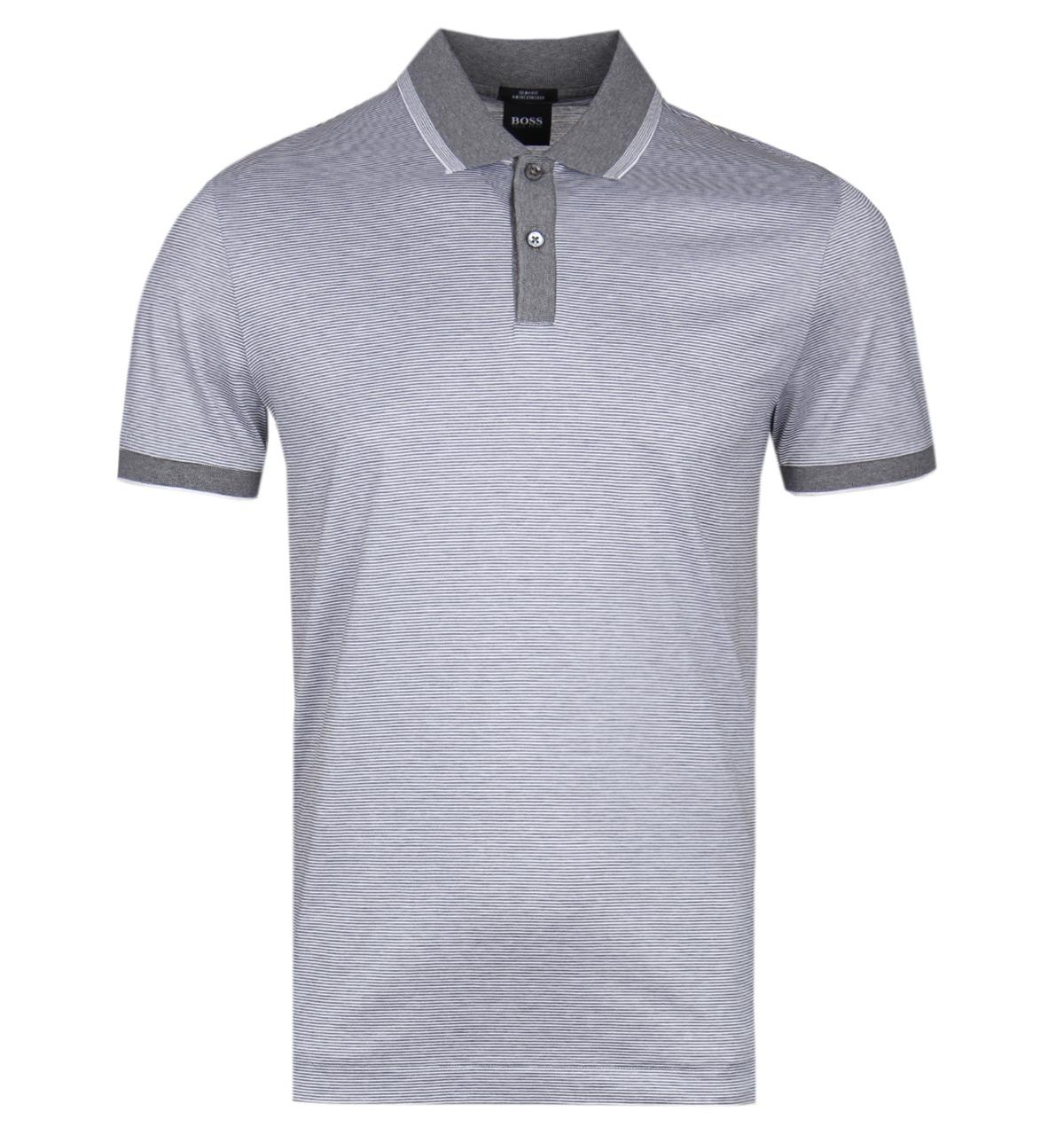 5abec34b3 Boss By Hugo Boss Phillipson32 Slim Fit Grey Polo Shirt in Gray for ...