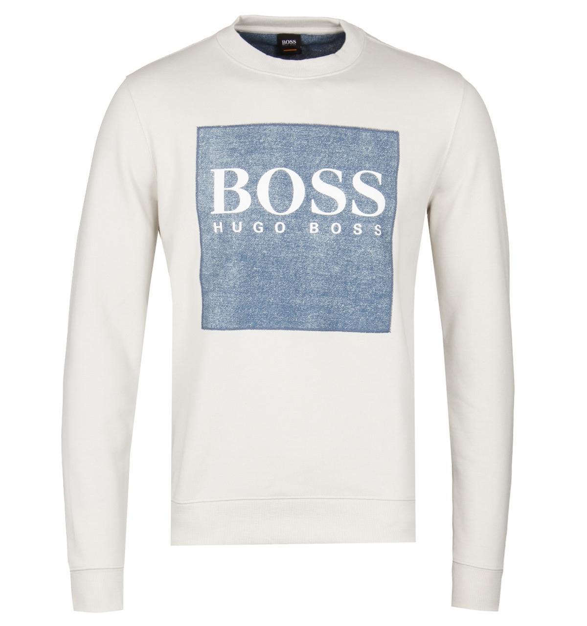 cc3531ca0 BOSS Orange Boss Wedford Beige Crew Sweatshirt in Natural for Men - Lyst