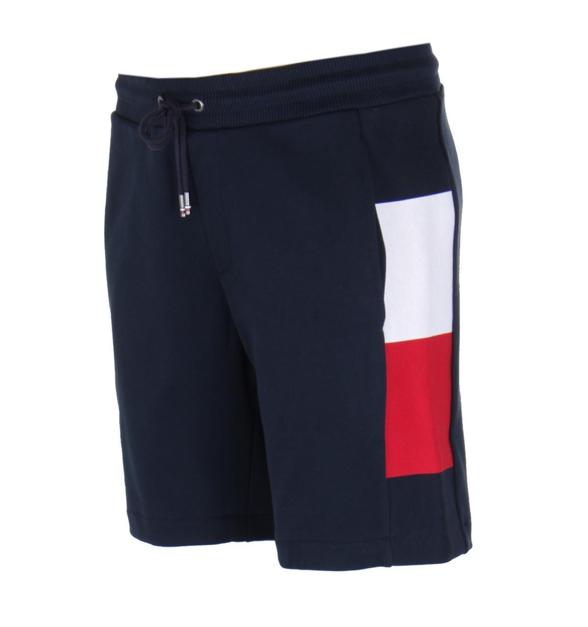 96986160c3c Lyst - Tommy Hilfiger Flag Rib Insert Navy Sweat Shorts in Blue for Men