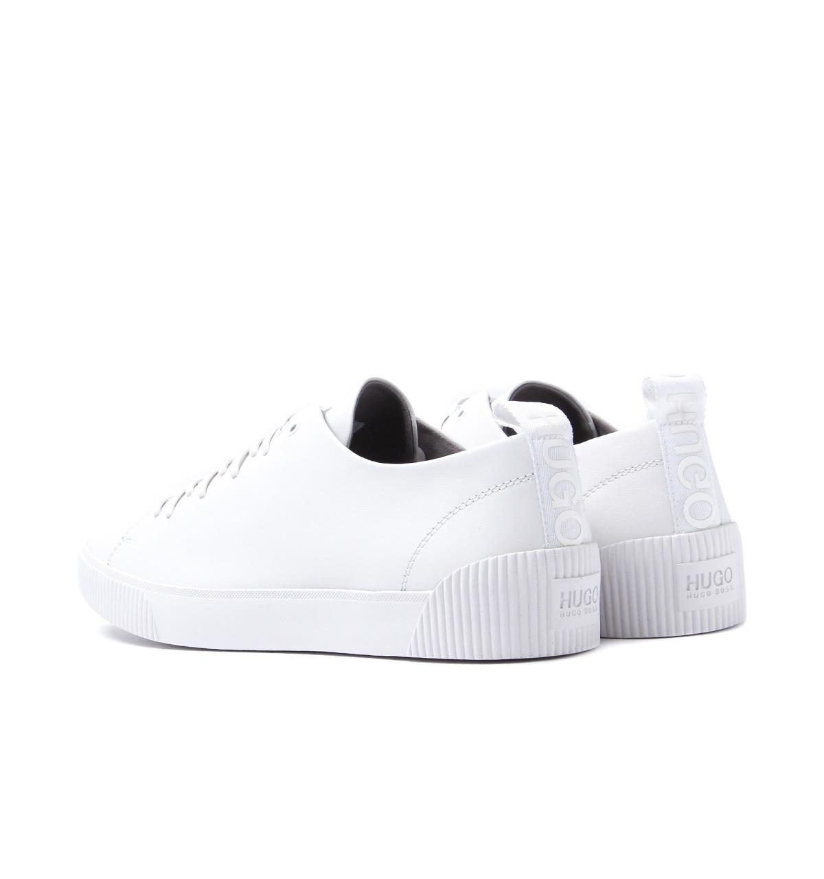 a112851162dc BOSS Hugo White Nappa Leather Zero Tenn Trainers in White for Men - Lyst