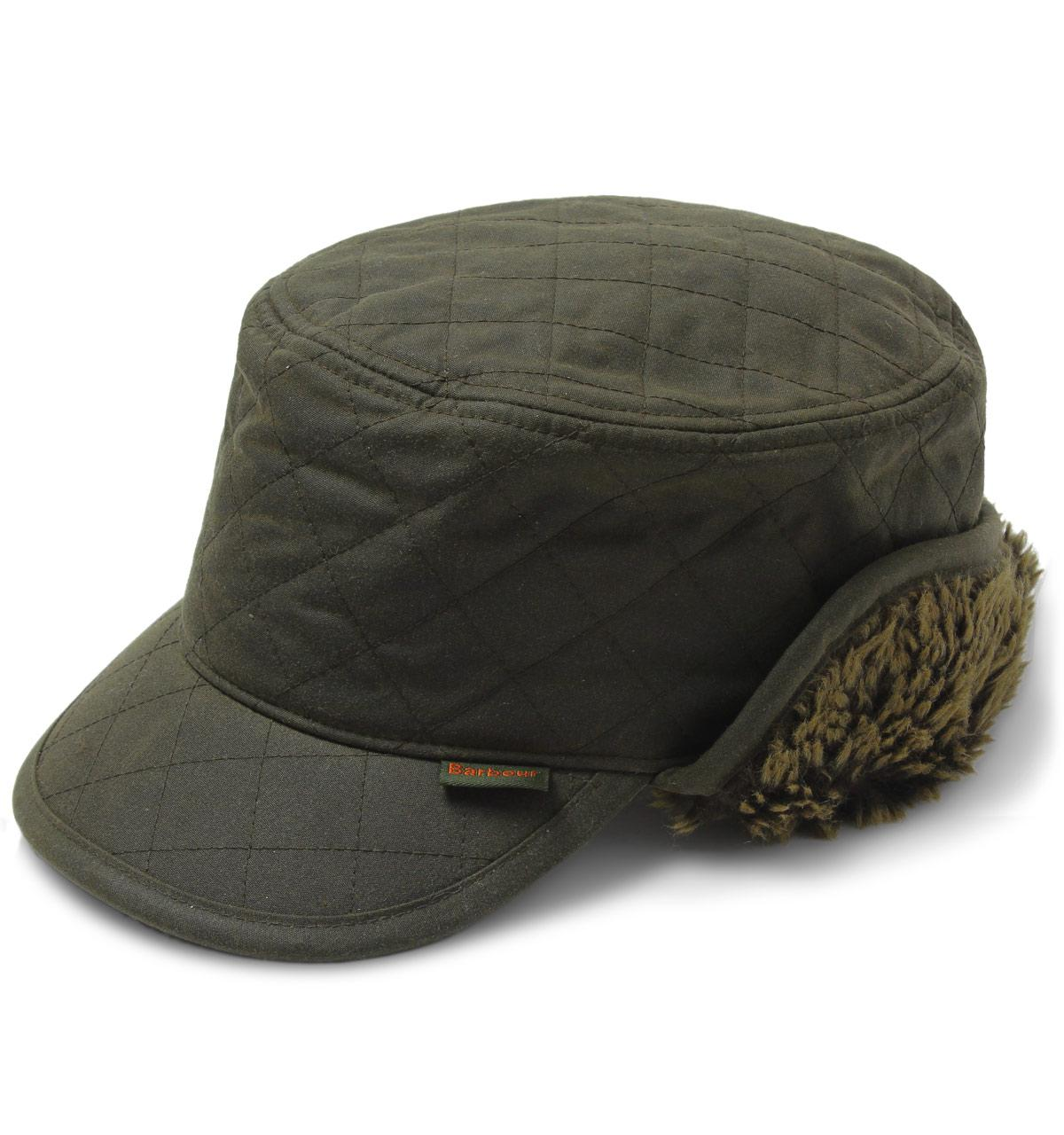 9278a99933e Barbour Stanhope Olive Green Trapper Wax Hat in Green for Men - Lyst