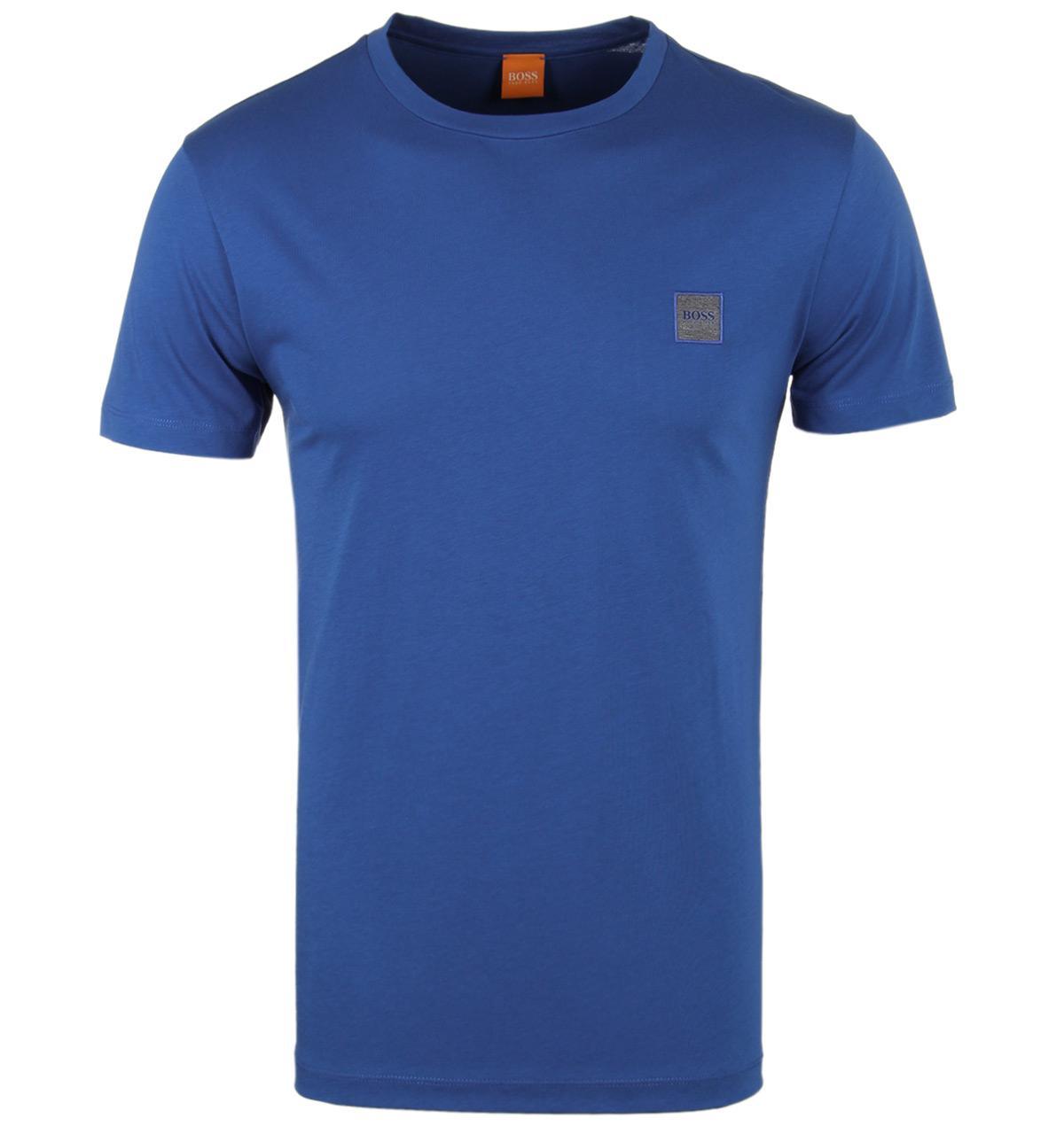 boss orange tommi uk blue jersey short sleeve t shirt in. Black Bedroom Furniture Sets. Home Design Ideas