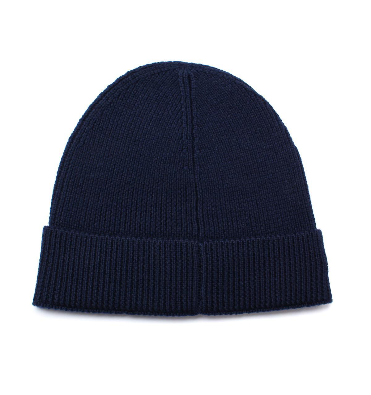 a2838aa98bd Lyst - Lacoste Marine Beanie Hat in Blue for Men
