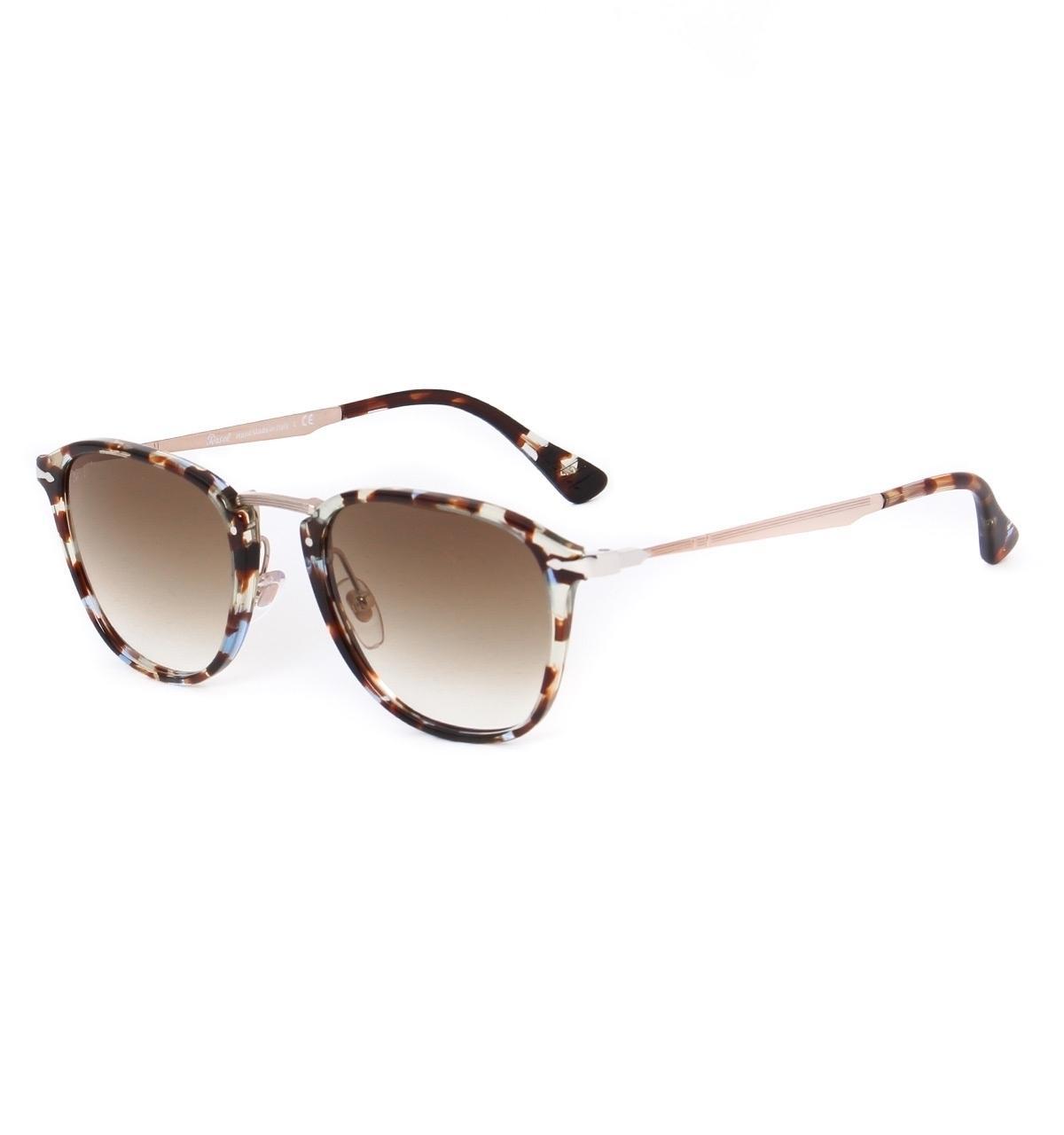 8b55950b576ce Persol. Men s Calligrapher Edition Spotted Havana Blue Acetate Sunglasses