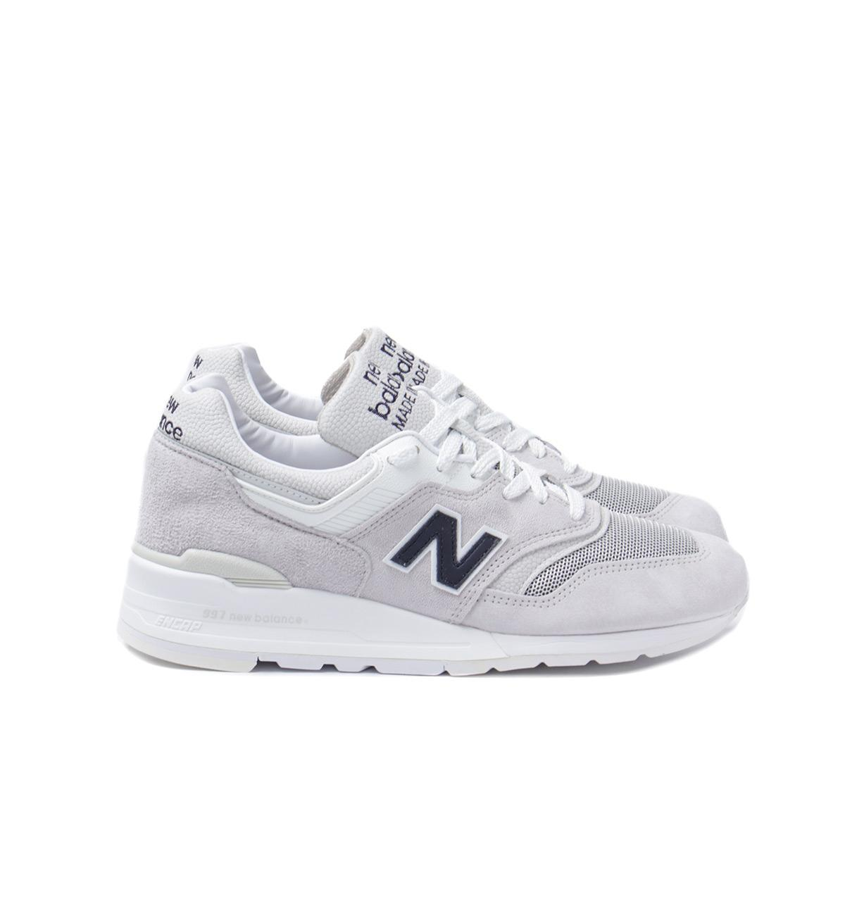 cbff540aaa2475 Lyst - New Balance 997 Made In The Usa Crystal Grey Trainers in Gray ...