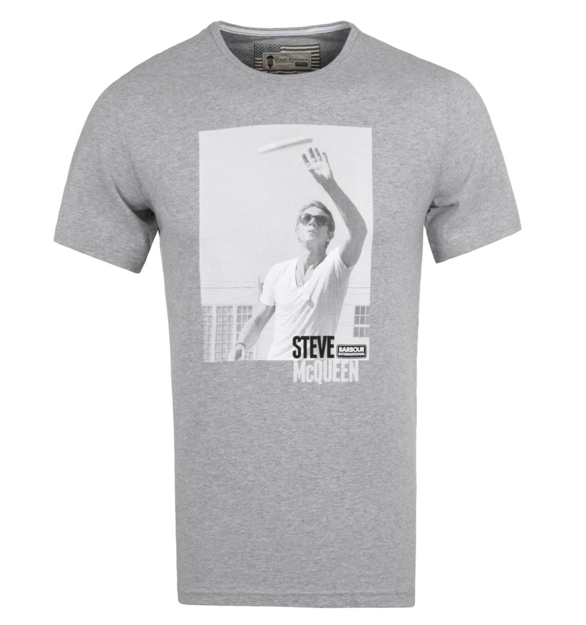 Lyst barbour catch grey marl jersey short sleeve t shirt for Grey marl t shirt